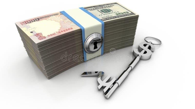Clave al éxito financiero ilustración del vector