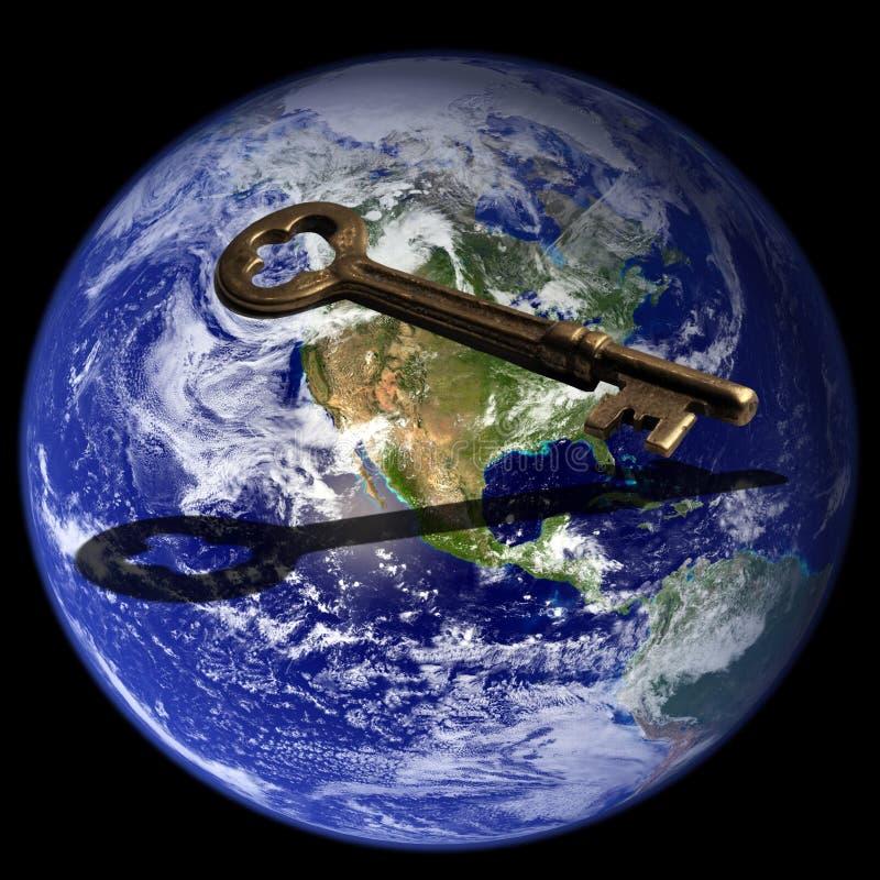Clave al éxito global imagen de archivo