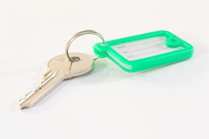 Clave con la etiqueta foto de archivo libre de regalías
