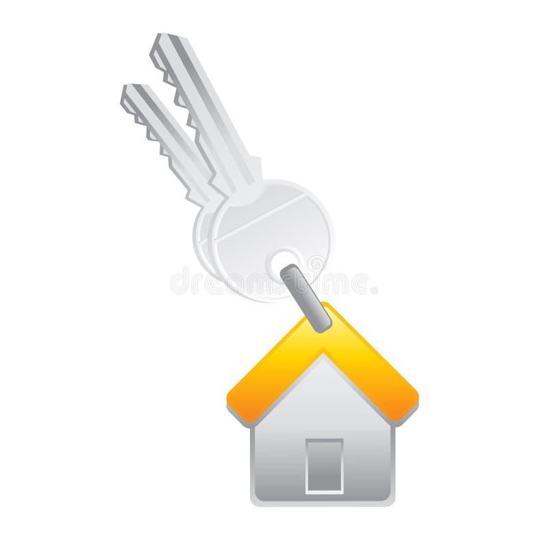 Clave de la casa ilustración del vector