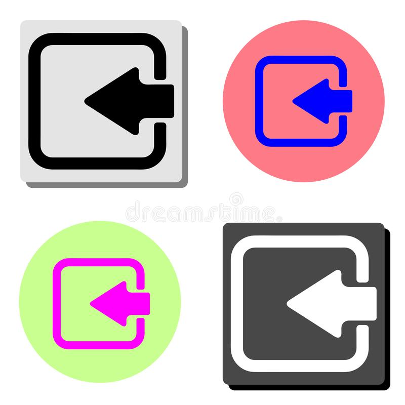 Clave de la flecha Icono plano del vector stock de ilustración
