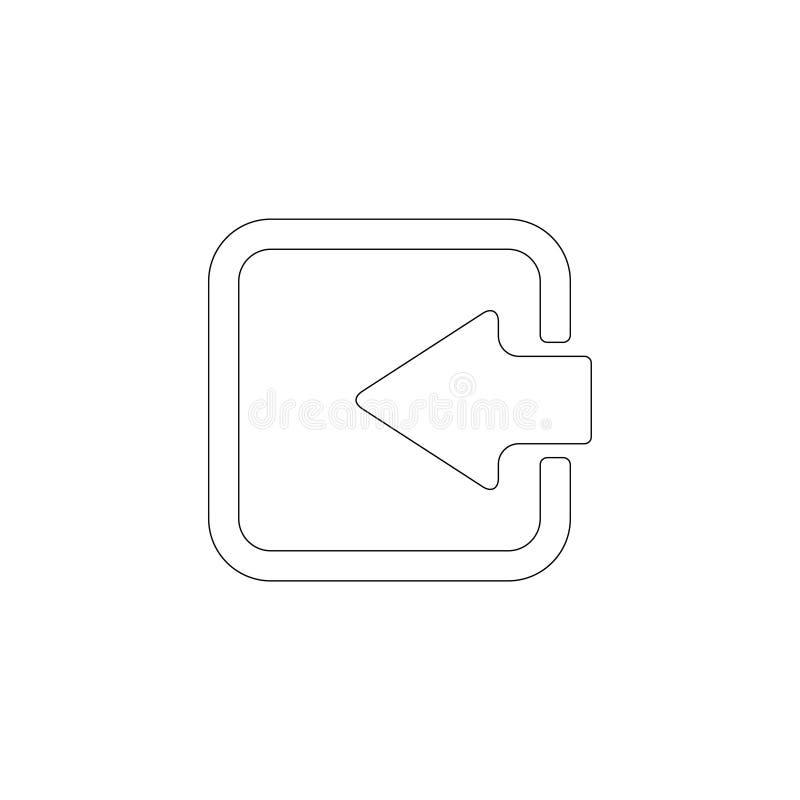 Clave de la flecha Icono plano del vector ilustración del vector