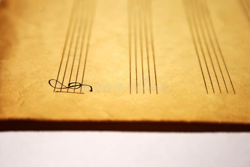 Clave de la nota de la música foto de archivo libre de regalías