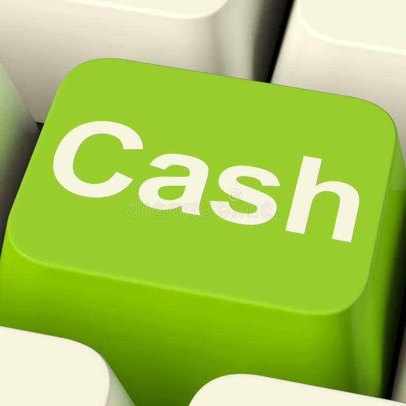 Clave de ordenador del efectivo como símbolo para el dinero en circulación libre illustration