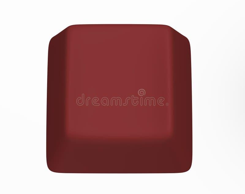 Clave de ordenador rojo foto de archivo libre de regalías