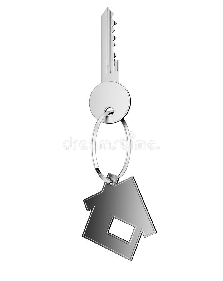 Clave de plata con la figura de la casa libre illustration