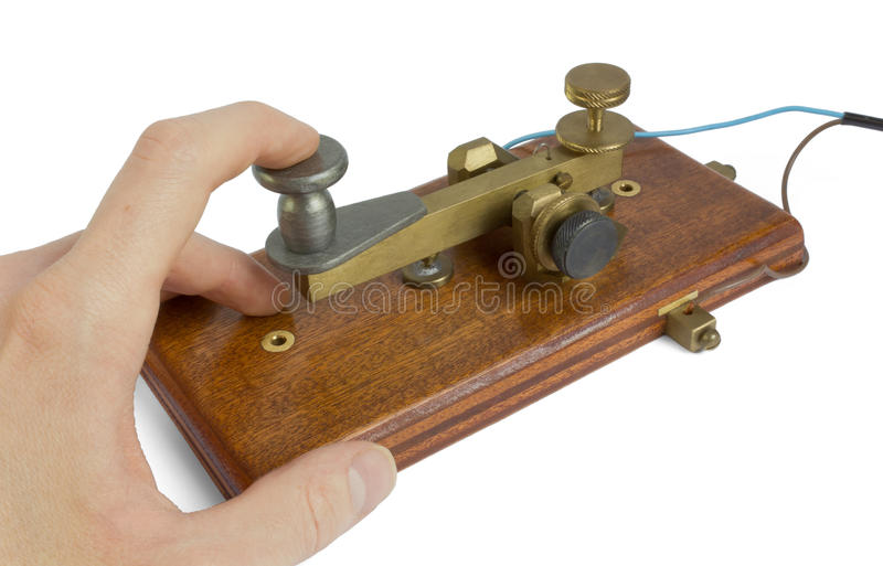 Clave de telégrafo fotos de archivo libres de regalías