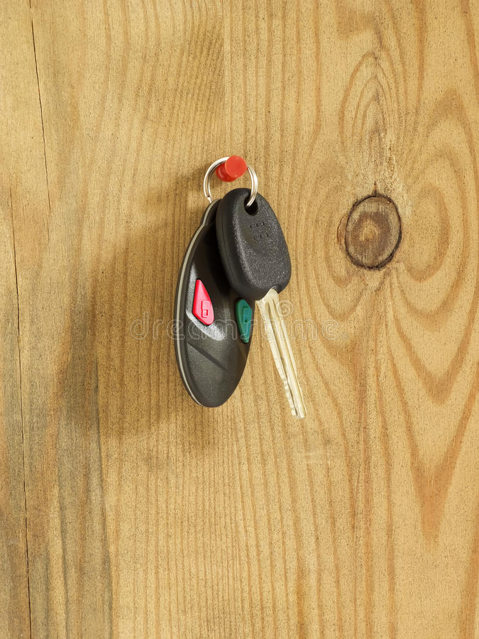 Clave del coche con teledirigido foto de archivo libre de regalías