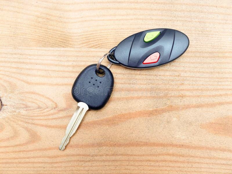 Clave del coche con teledirigido imagen de archivo