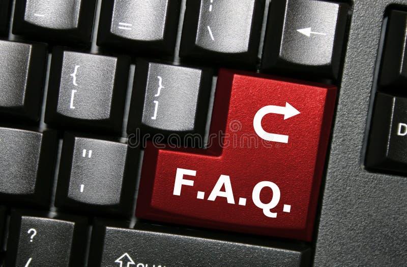 Clave del FAQ imagen de archivo libre de regalías