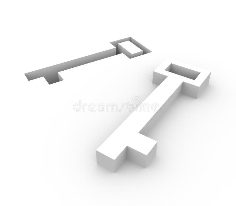 Clave y ojo de la cerradura ilustración del vector