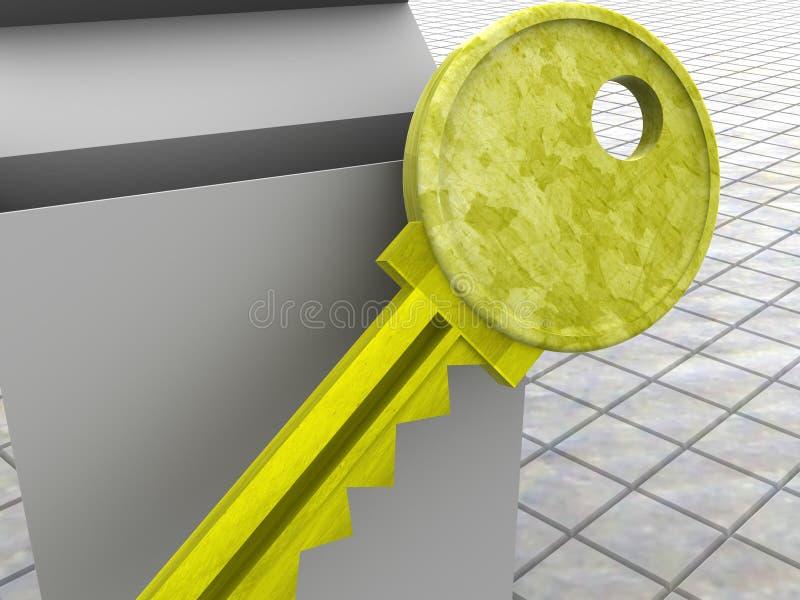 Clave y rectángulo. ilustración del vector
