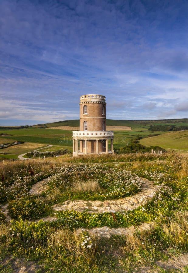 Clavell torn på den Dorset kustlinjen royaltyfria foton