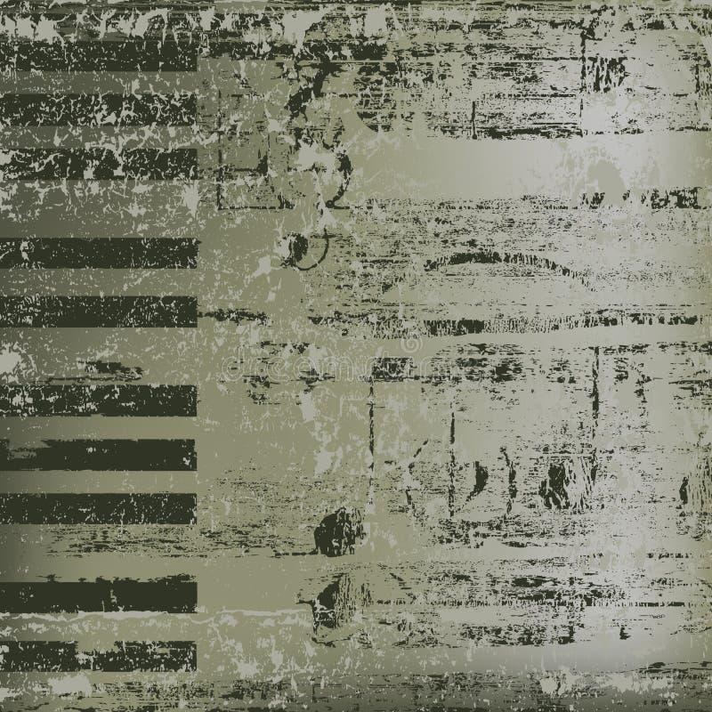 Claves abstractos del piano del fondo libre illustration
