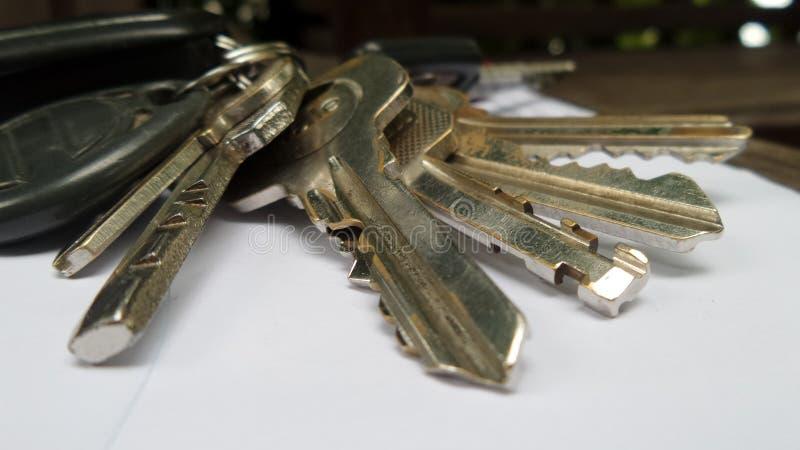 Claves al éxito foto de archivo