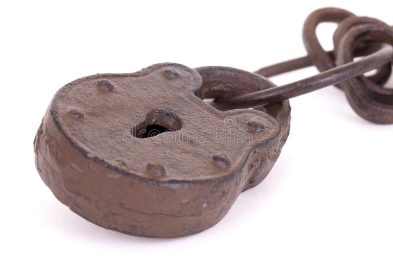 Claves antiguos en un anillo imagenes de archivo
