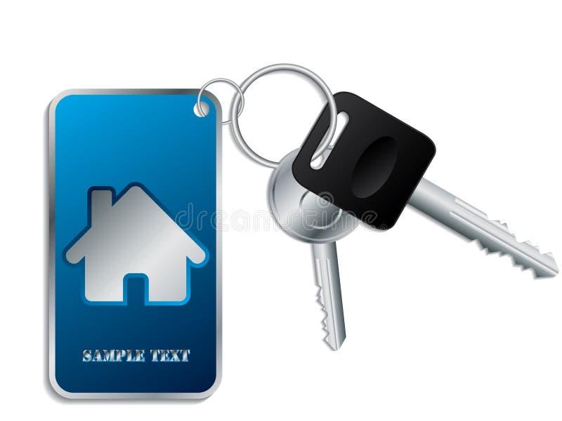 Claves con el keyholder azul libre illustration