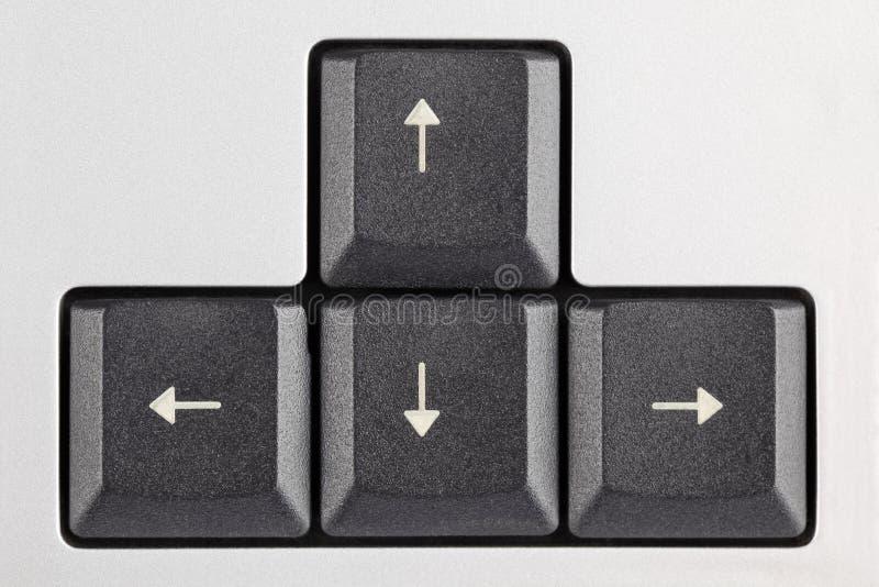 Claves de flecha en el teclado foto de archivo
