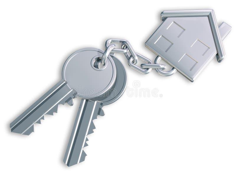 Claves de la casa ilustración del vector