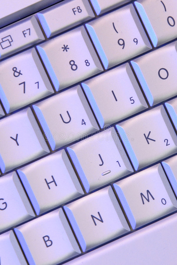Claves de la computadora portátil fotografía de archivo libre de regalías