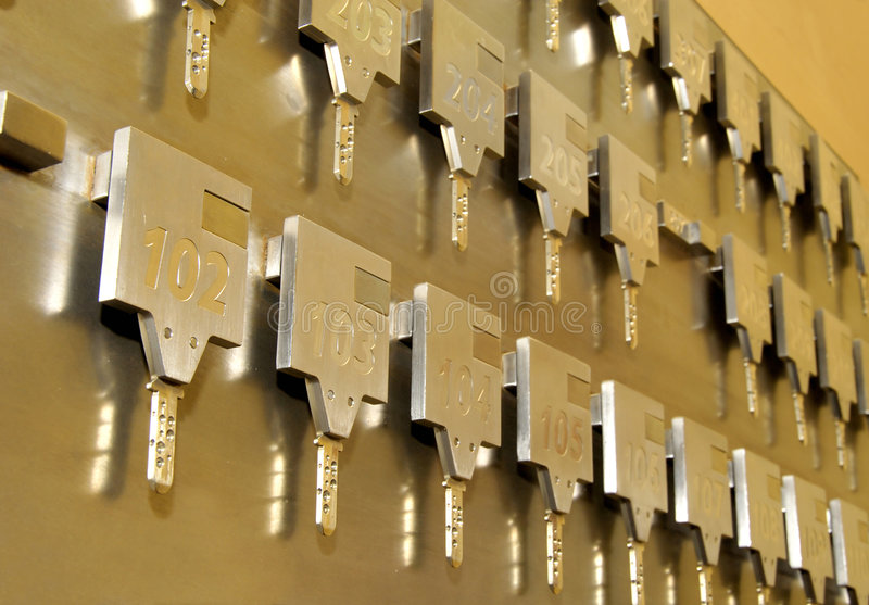 Claves de la habitación imagenes de archivo