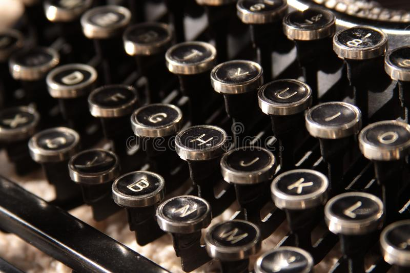 Claves de la máquina de escribir fotografía de archivo