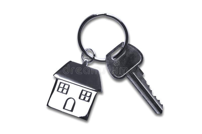 Claves de la nueva casa con el camino de recortes fotos de archivo