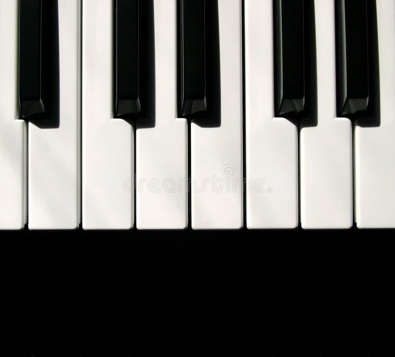 Claves de MIDI del teclado fotografía de archivo libre de regalías