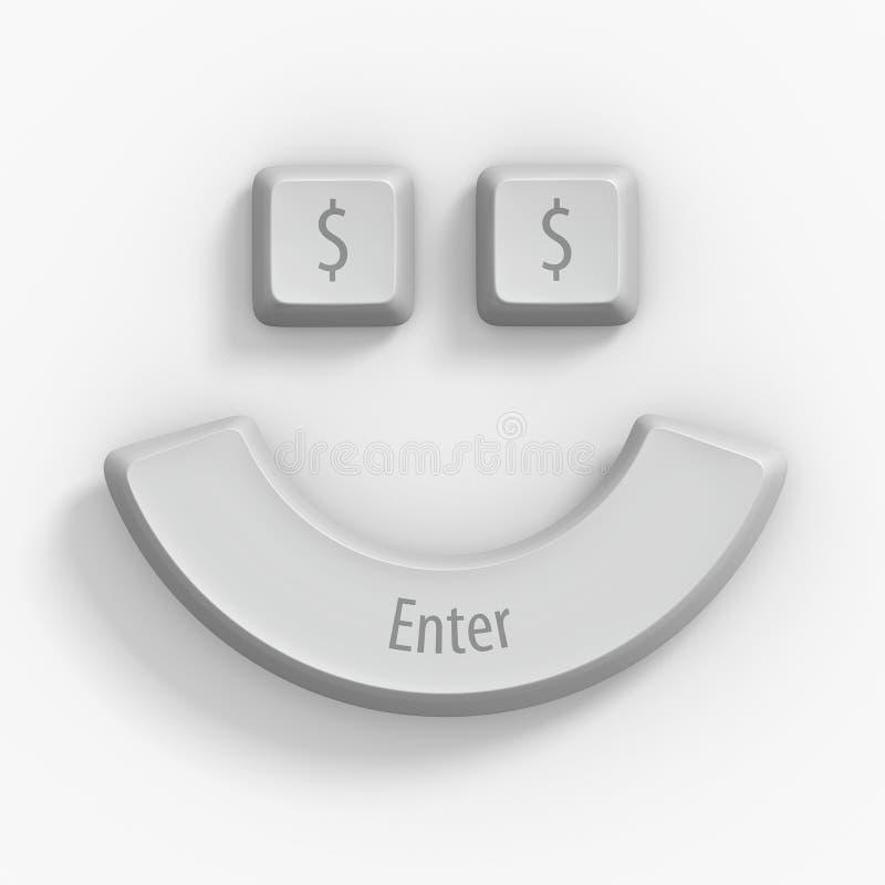 claves de ordenador 3d en blanco foto de archivo libre de regalías