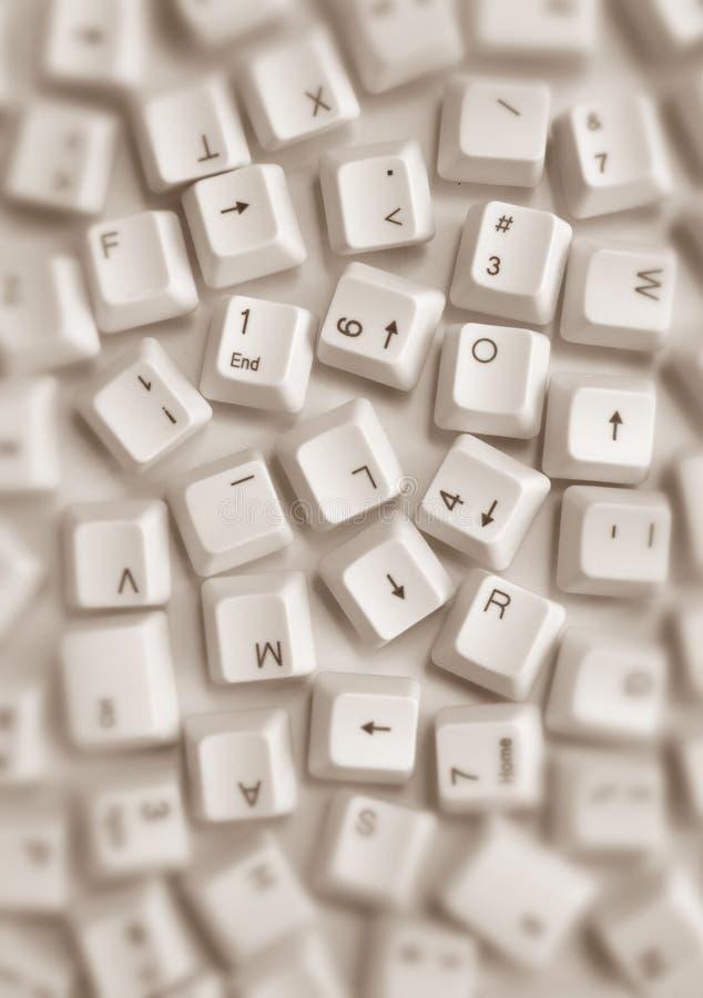 Claves de ordenador fotografía de archivo libre de regalías
