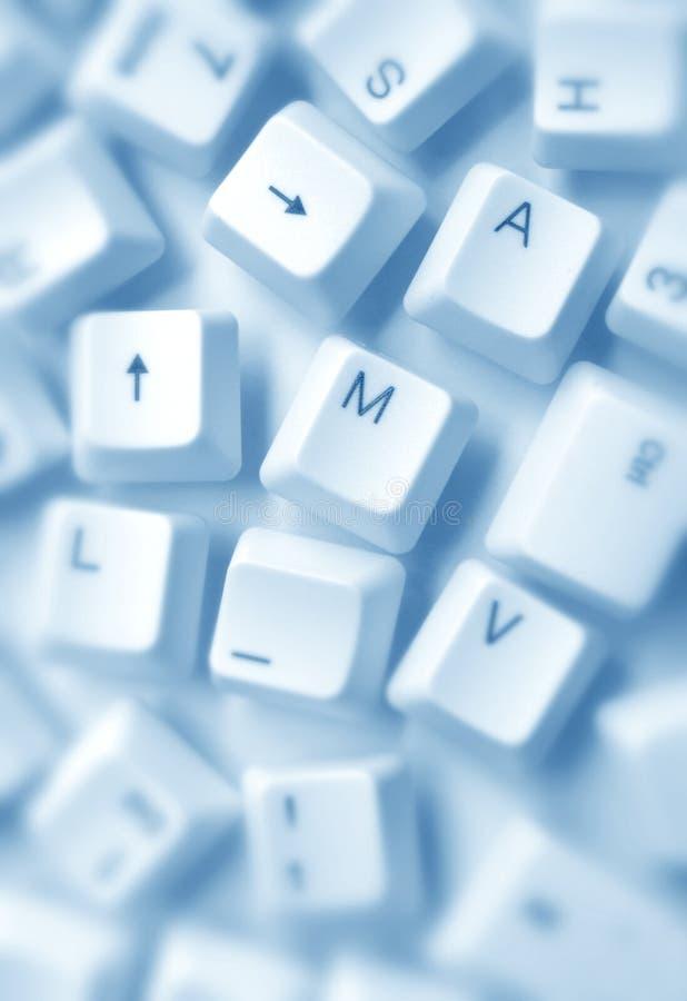 Claves de ordenador foto de archivo libre de regalías