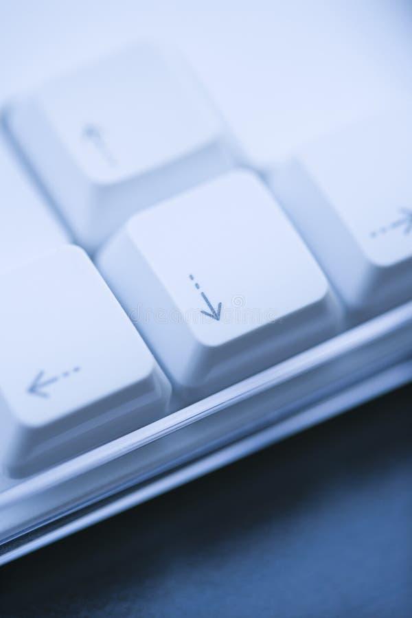 Claves de ordenador de la flecha. fotos de archivo libres de regalías