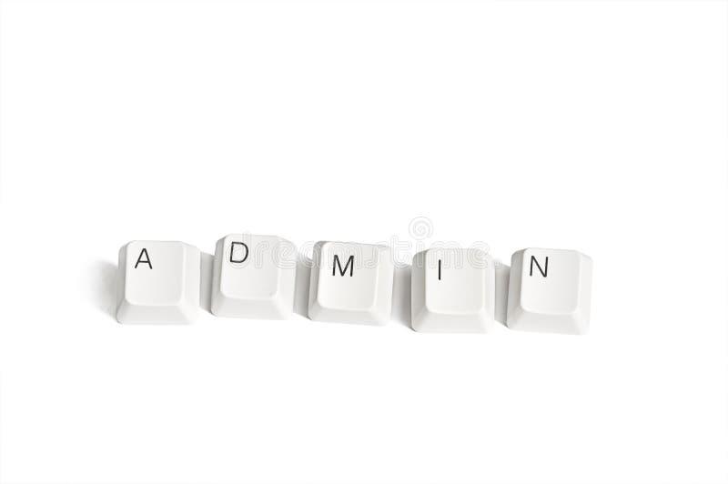 Claves de ordenador del Admin fotografía de archivo libre de regalías