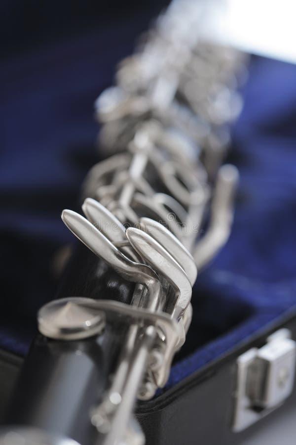 Claves del Clarinet en caso imagen de archivo libre de regalías