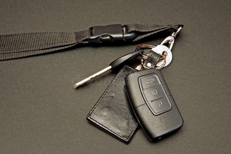 Claves del coche fijados con teledirigido imagenes de archivo