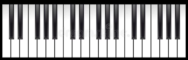 Claves del piano stock de ilustración