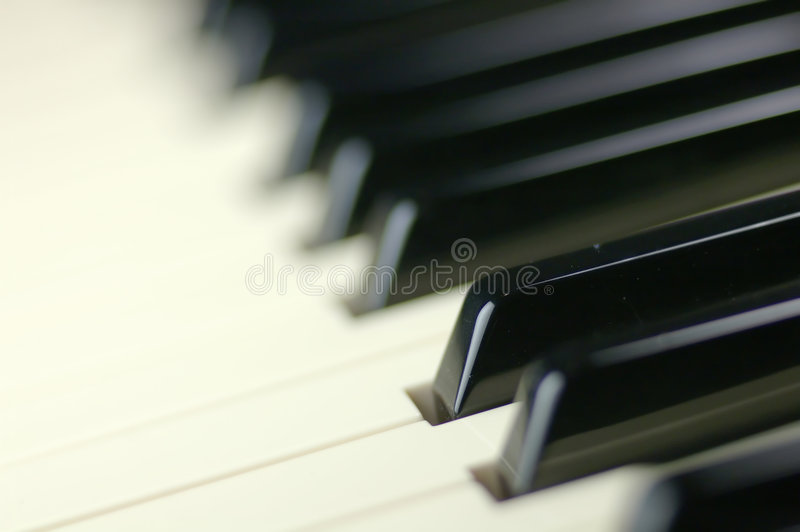 Claves del piano imagen de archivo libre de regalías