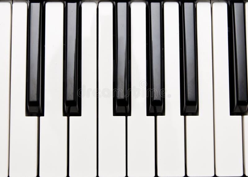 Claves del piano imágenes de archivo libres de regalías