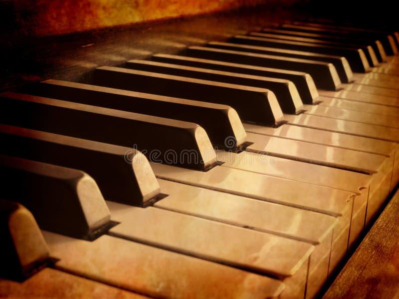 Claves del piano de la sepia foto de archivo