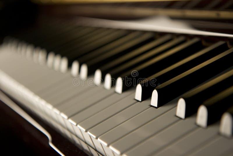 Claves del piano del jazz imagenes de archivo