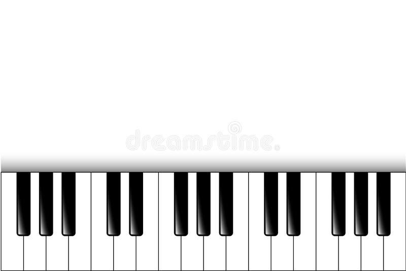 Claves del piano Fondo del vector ilustración del vector