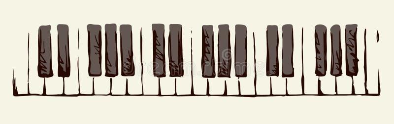 Claves del piano Gráfico del vector stock de ilustración