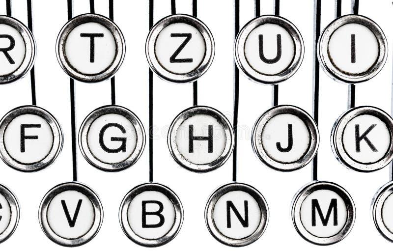 Claves en una máquina de escribir imágenes de archivo libres de regalías