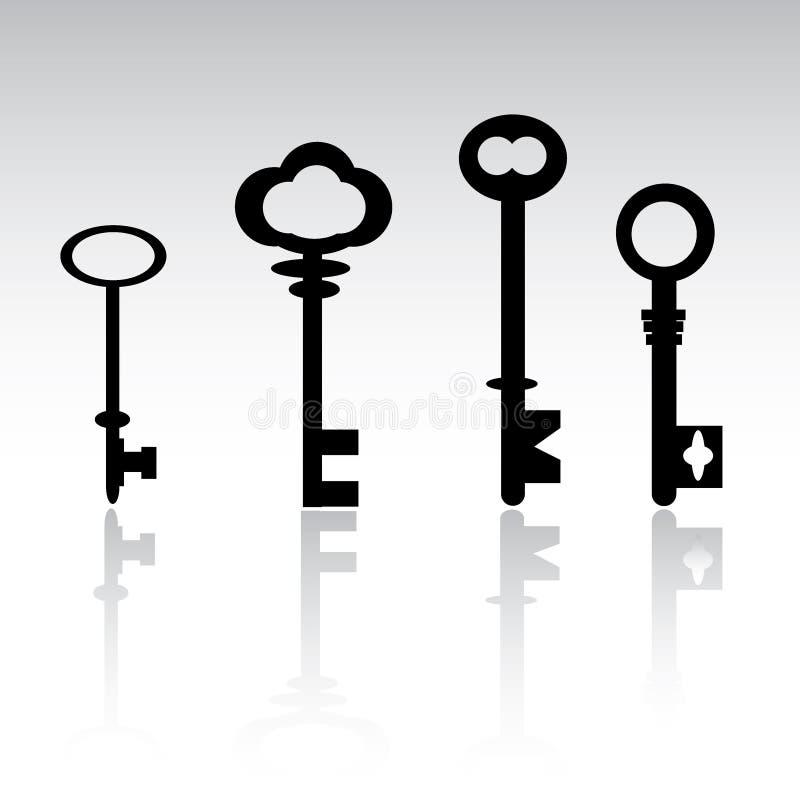 Claves esqueléticos ilustración del vector