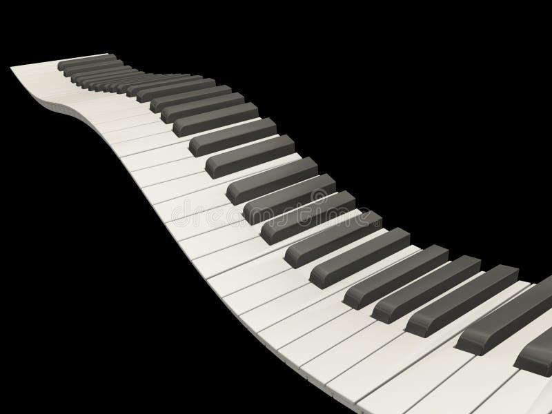Claves ondulados del piano ilustración del vector