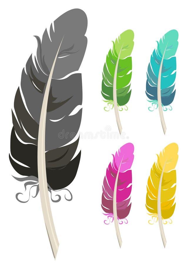 Clavettes colorées illustration stock