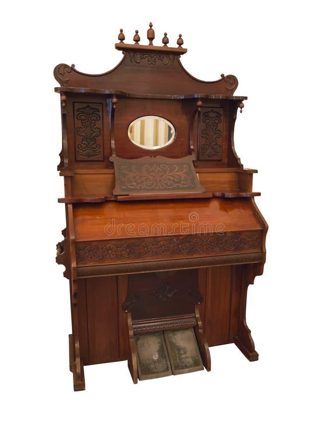 Clavicembalo del XIX secolo, un piccolo isola dello strumento musicale dell'organo fotografie stock libere da diritti