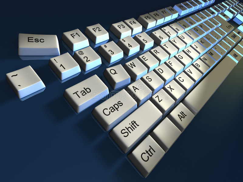 Clavier illustration stock