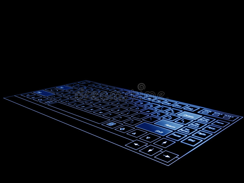 Clavier 3d bleu illustration libre de droits