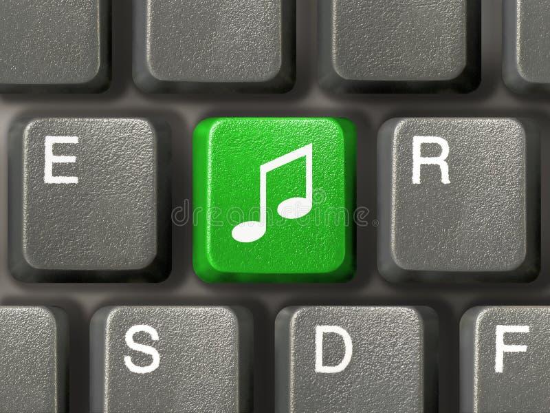Clavier avec la clé de musique photo stock